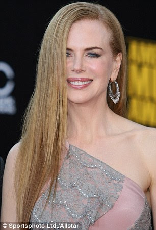 Frizz-off: Nicole Kidman in 1989 aged 21 and now at 43
