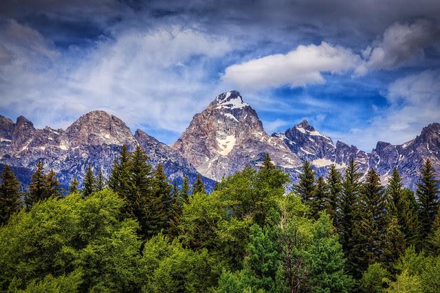 Sky Mountains Trees