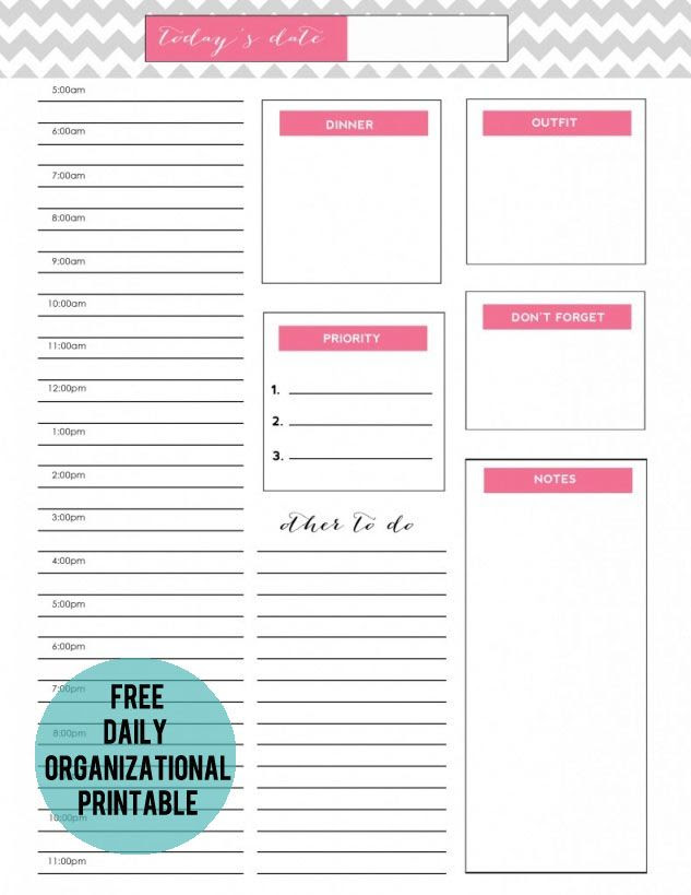 1000+ images about planner(s) on Pinterest | Daily planners, Free ...