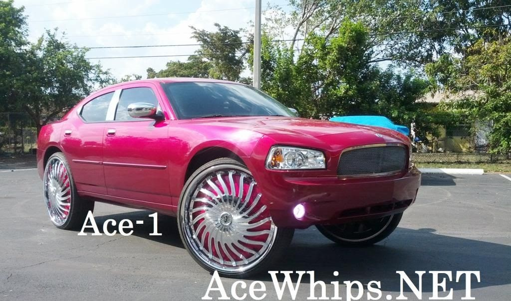 Ace 1 Calvin S Candy Magenta Pink Dodge Charger R T On 30