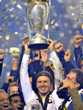 Four years after heading to the States, Beckham finally won the MLS Cup with Galaxy last season. Galaxy beat Houston Dynamo 1-0 in the final thanks to a goal from Landon Donovan.
