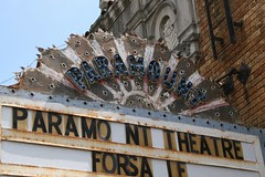 paramount theatre marquee detail
