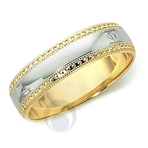 18ct Gold & Platinum Wedding Ring Wedding Dress from The