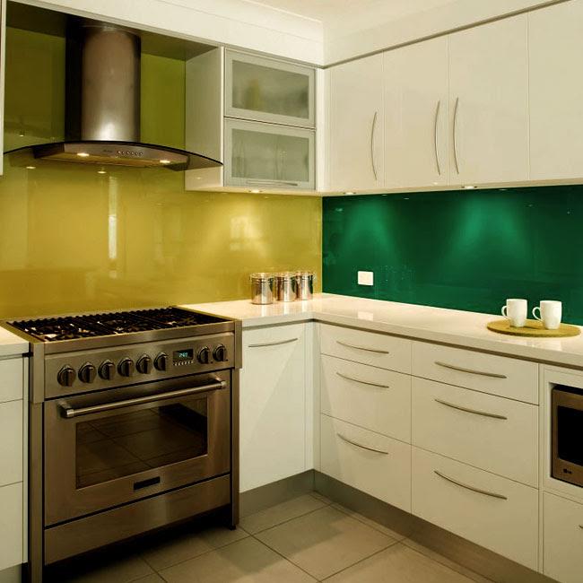 Slab Kitchen Cabinet Door in Solid Light Beige - AKC