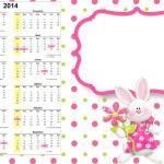 Convite Calendário 2014 Páscoa para Meninas: