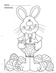easter bunny coloring page  crafts and worksheets for preschooltoddler and kindergarten
