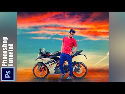 Photoshop KTM and boy Manipulation with Awesome color effects