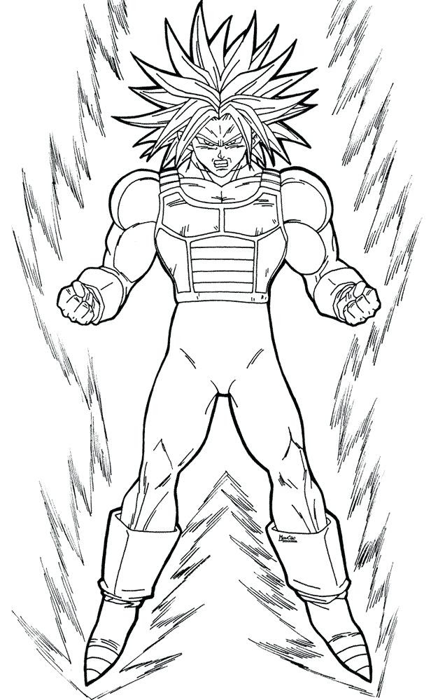 Dragon Ball Z Trunks Coloring Pages At Getdrawingscom Free For