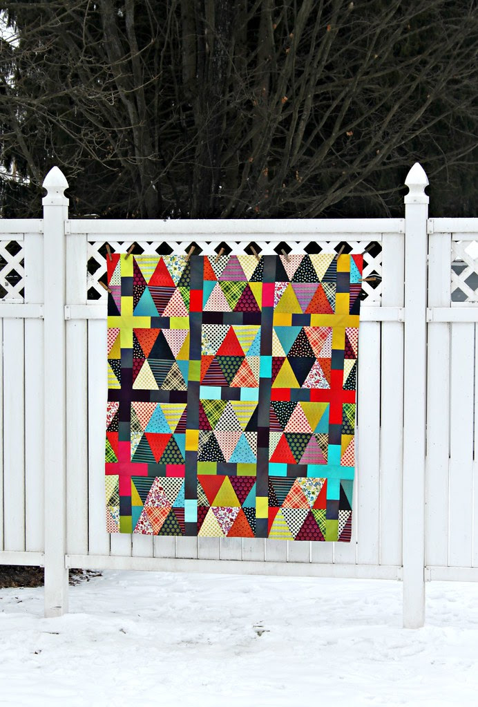 Chicopee Triangles Quilt Top