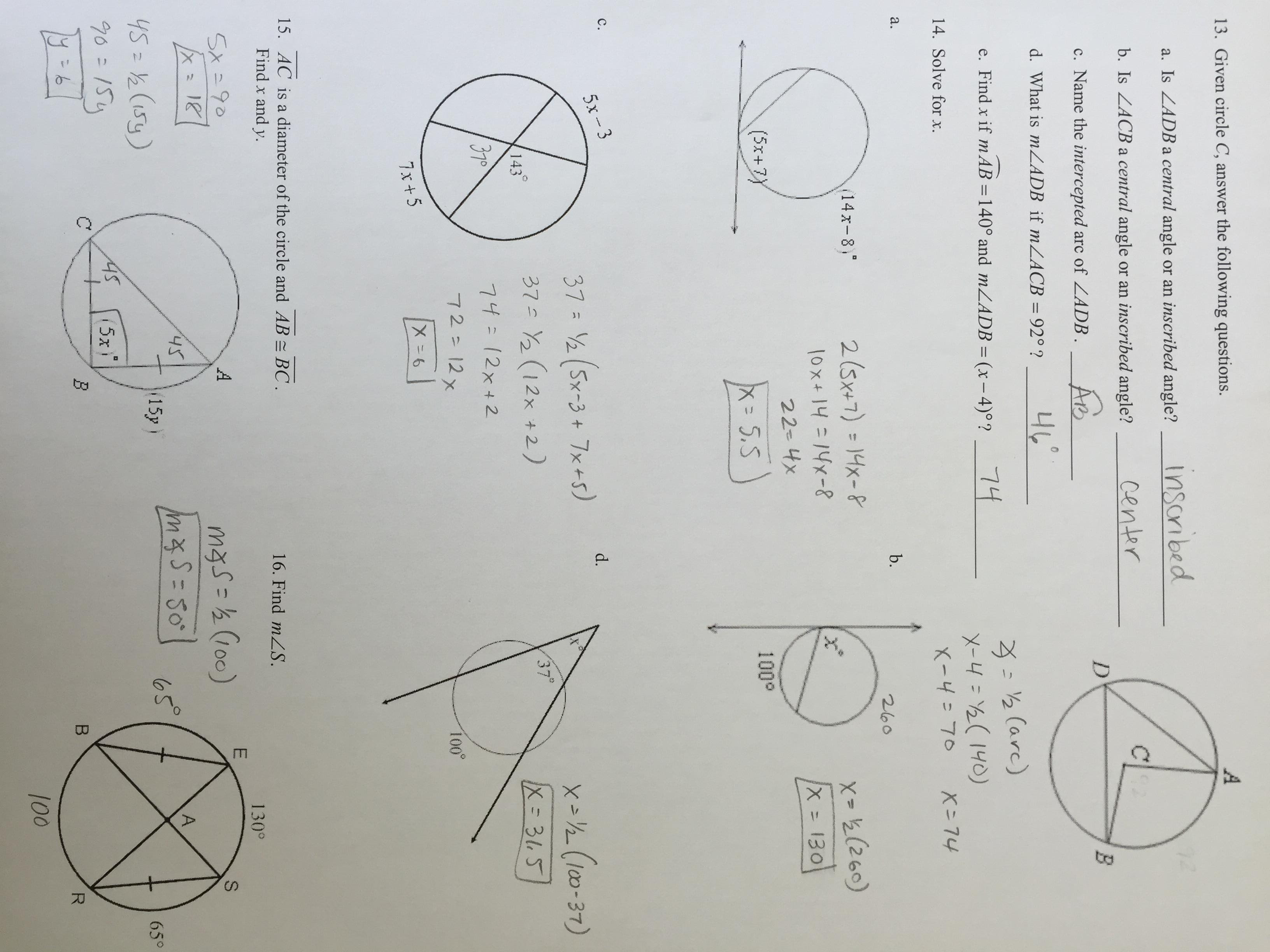 29 Geometry Circles Review Worksheet - Worksheet Project List