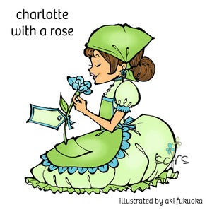 Image of Charlotte with a Rose