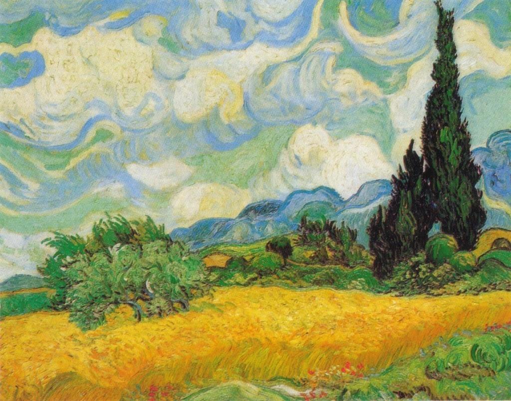 Vincent Van Gogh Cypresses