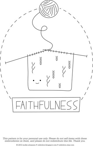 Faithfulness - a free pattern