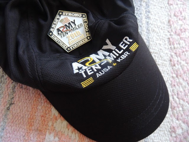 hat and race medal