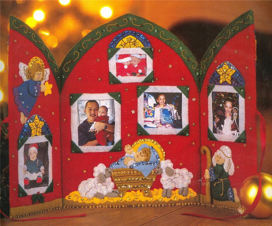 Christmas Manger Photo Frame Felt Kit