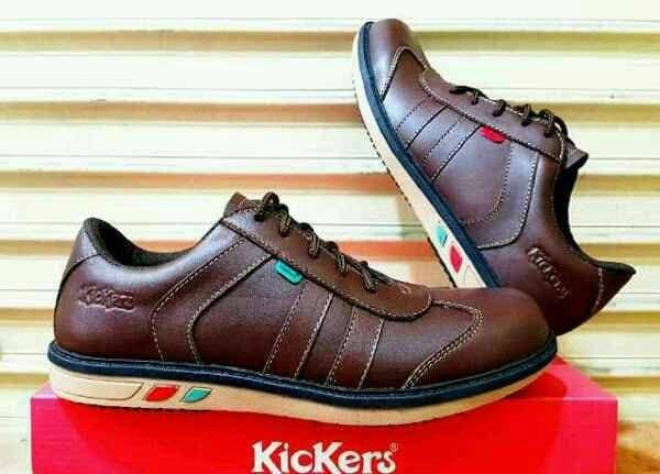 MURAH NEW Sepatu Pria Sneakers Kulit Asli Kickers Leather Casual Bagus Murah 31e4a36311