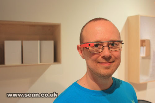 Sean wearing Google Glass