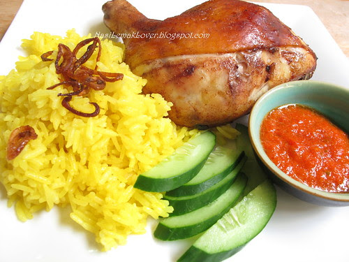 Roasted five spices chicken and Turmeric rice