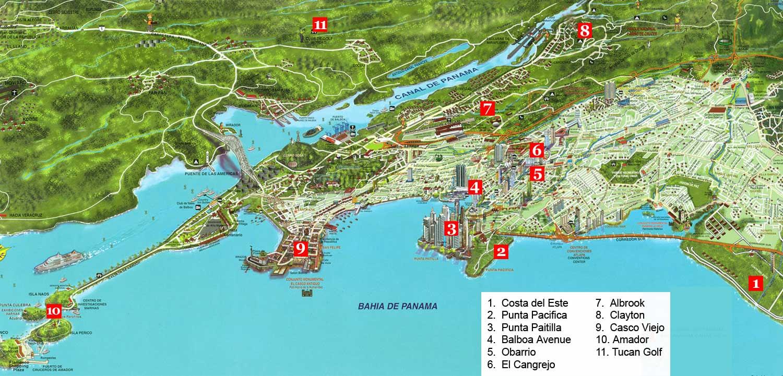 Panama City Map Panama City Panama  E2 80 A2 Mappery