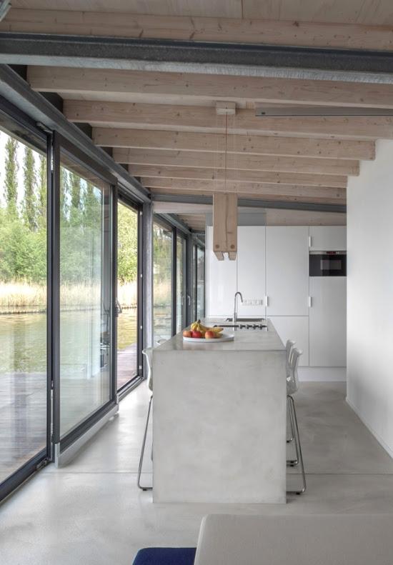 betonowe blaty, betonowa kuchnia, www.architektnaszpilkach.pl