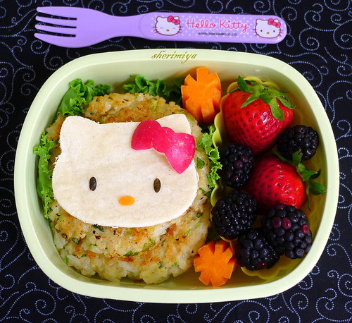 Hello Kitty Fishcakes Bento by sherimiya ♥