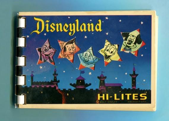 Vintage Disneyland Hi - Lites Flipbook Souvenir Pictures 1960s Altered Art Scrapbook Supplies
