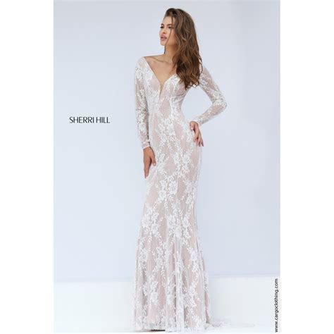 Sherri Hill long sleeve 50019 lace overlay dress