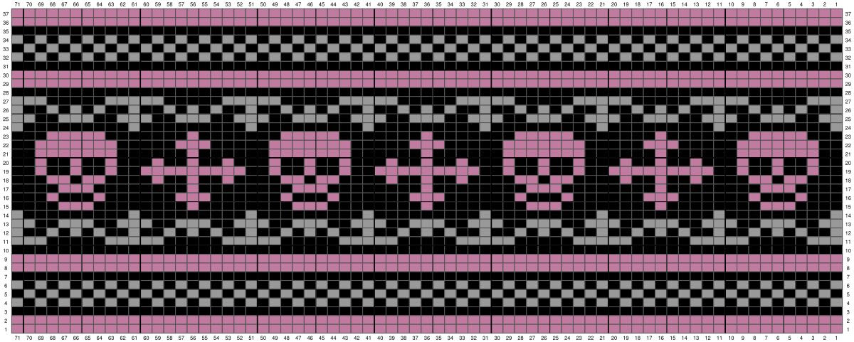 FREE Skulls & Crosses Knitting Chart