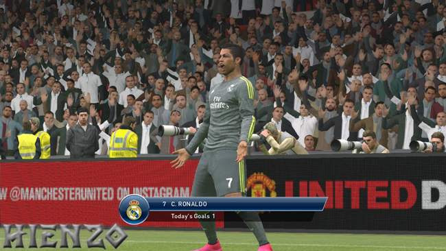 Cristiano Ronaldo on PES 2016