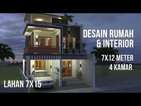 penting desain rumah minimalis 7x12 4 kamar lahan 7x15