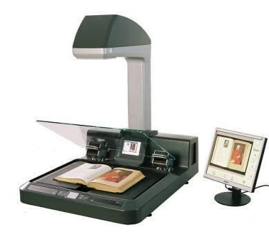 Copibook book scanner and book copier for bound documents