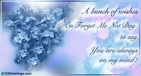 A Bunch Of Wishes  Free Forget Me Not Day eCards
