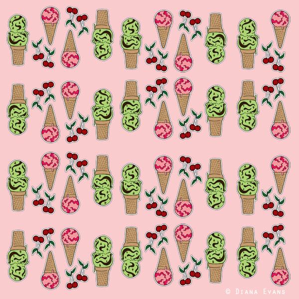 ice cream fabric