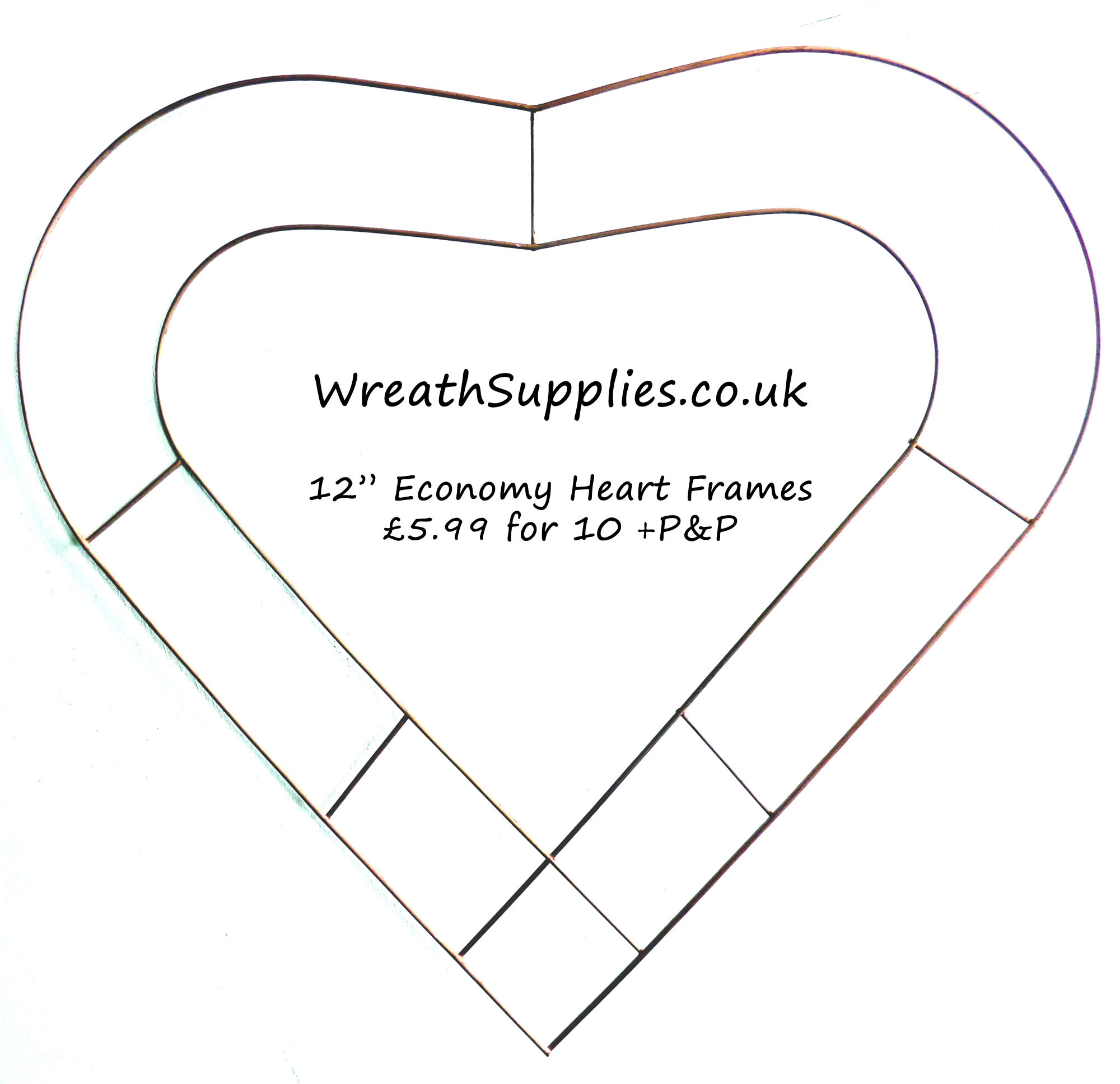12 Inch Heart Frame Small Wire Heart Rustical