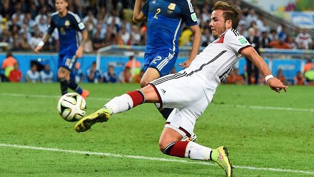 Gotze marcou o primeiro gol do jogo na prorrogação