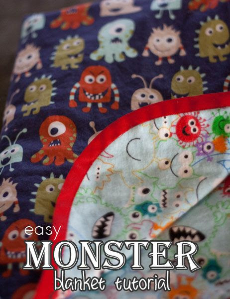 http://www.morelikehome.net/2014/04/easy-monster-blanket.html