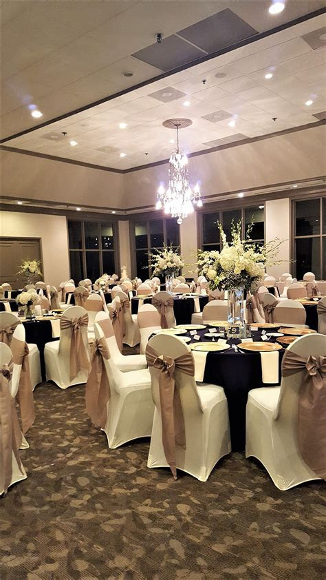 Wedding Reception with Ivory Spandex Chair Covers, Gold