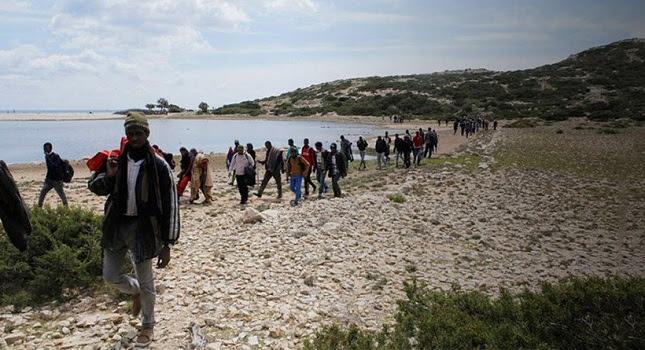 «Τσουνάμι» παράνομων μεταναστών σε Λέσβο, Χίο και Κω