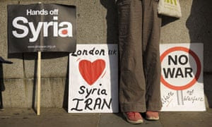 Anti-war posters in Westminster