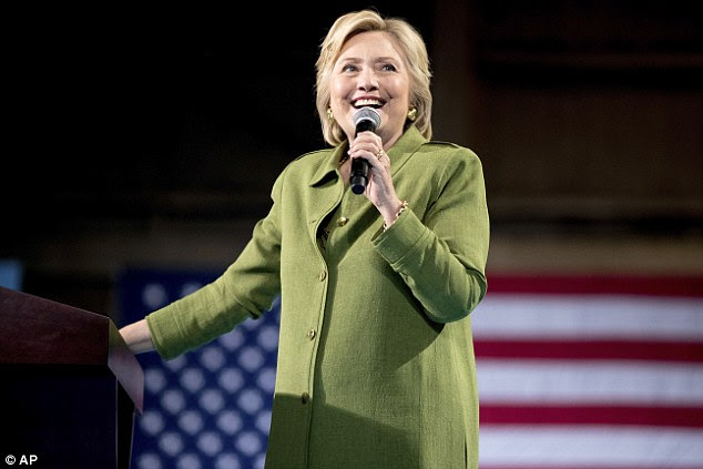 Hillary addresses a crowd at an event in Tampa Bay, Florida, at the beginning of a two-day campaign push in the crucial swing state
