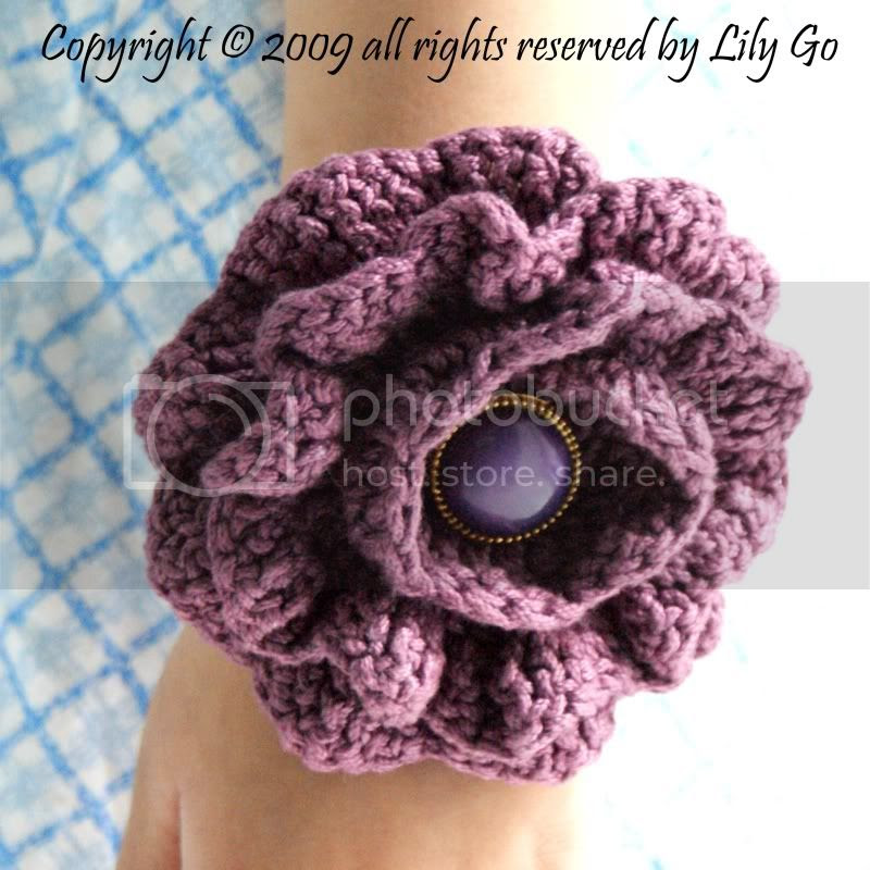 Crocheted Flower as Bracelet