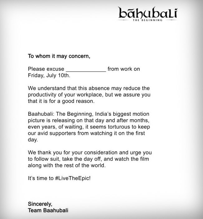 Official letter for leave 20 leave letter templates pdf doc free for baahubali a film on facebook and a viral leave letter my altavistaventures Gallery