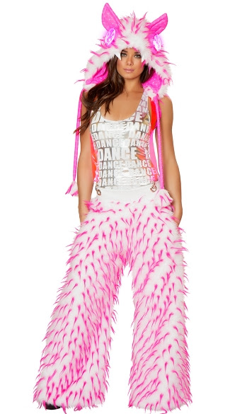 metallic rave monster costume furry rave monster costume