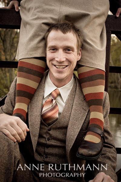 groom's vintage tweed suit