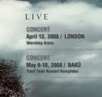 Tarkan in London confirmed by his official site
