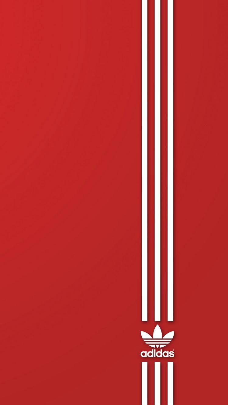 アディダススポーツレッドロゴiphone 6 Android壁紙ブランド Iphone