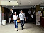 William Bonner e Fátima Bernardes votam no Rio