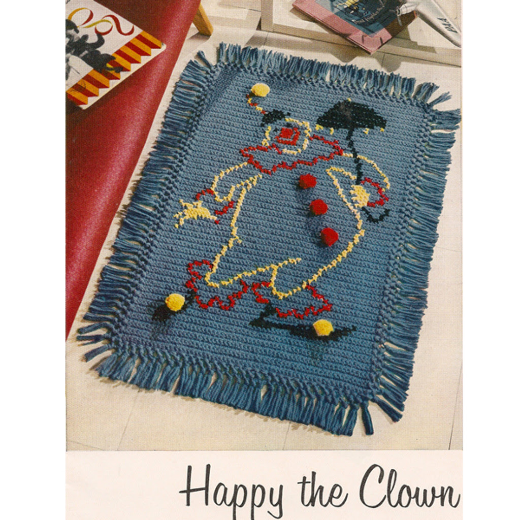 Crochet Happy the Clown Rug Pattern