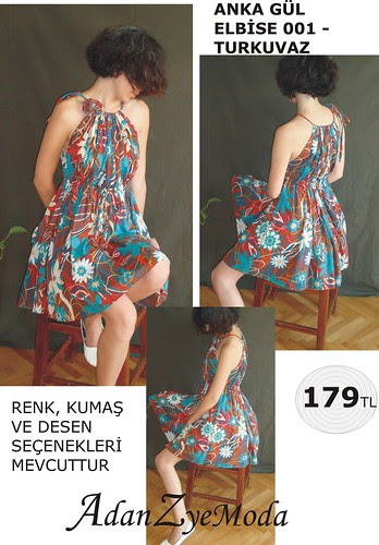 Anka Gul Elbise 001 turquise