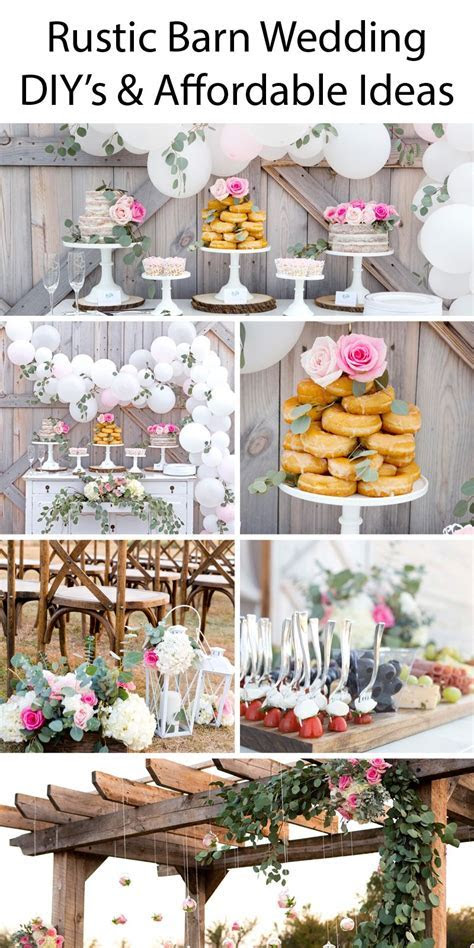 Rustic Barn Wedding Ideas   Tons of great DIY's and